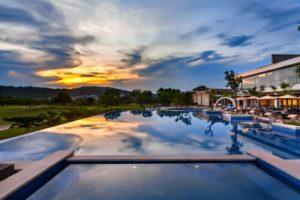 Radisson Hotel Batam Pool Sunset