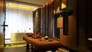 在巴淡岛艾斯卡酒店巴淡温泉有值得游泳的温泉浴场