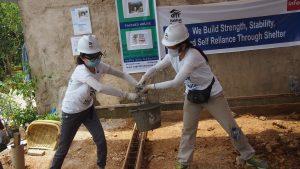 Volunteer Overseas in Indonesia Batam - Batam Build - After Building - Passing of cement-min