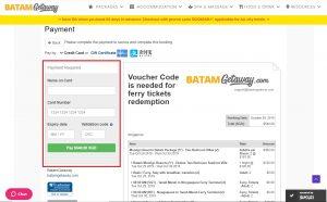 BatamGetaway Booking Step 6a
